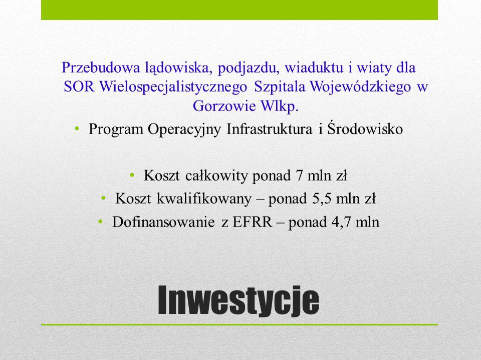 Przebudowa lądowiska, podjazdu, wiaduktu i wiaty dla SOR Wielospecjalistycznego Szpitala Wojewódzkiego w Gorzowie Wlkp.