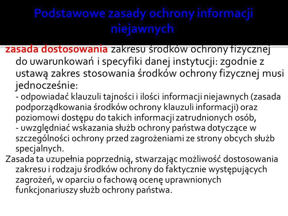 Podstawowe zasady ochrony informacji niejawnych