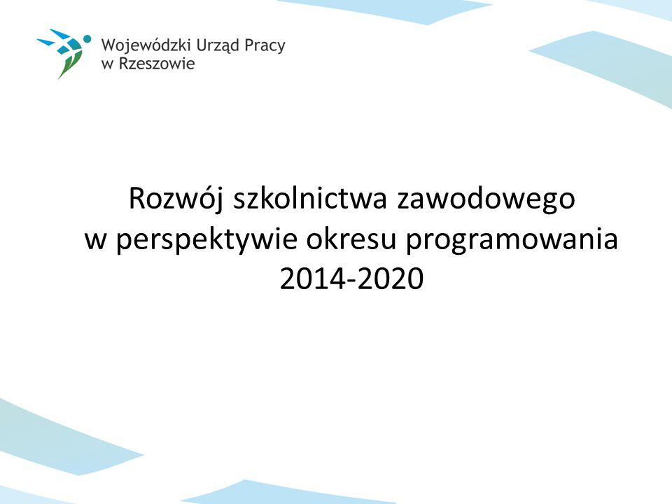 Rozwój szkolnictwa zawodowego w perspektywie okresu programowania 2014-2020