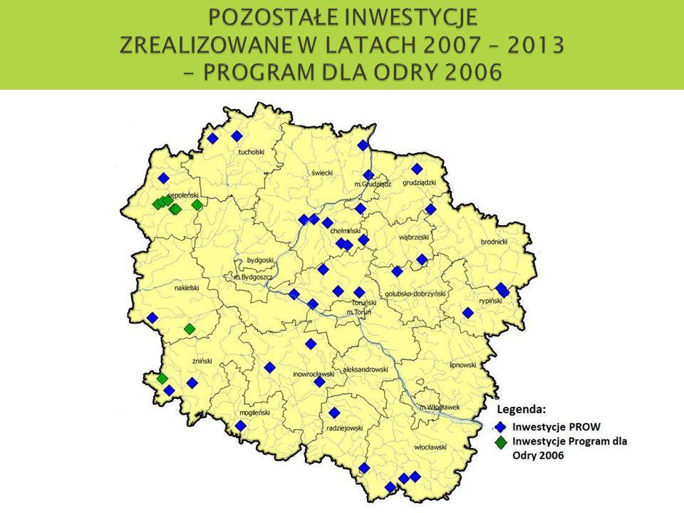 POZOSTAŁE INWESTYCJE ZREALIZOWANE W LATACH 2007 – 2013 - PROGRAM DLA ODRY 2006