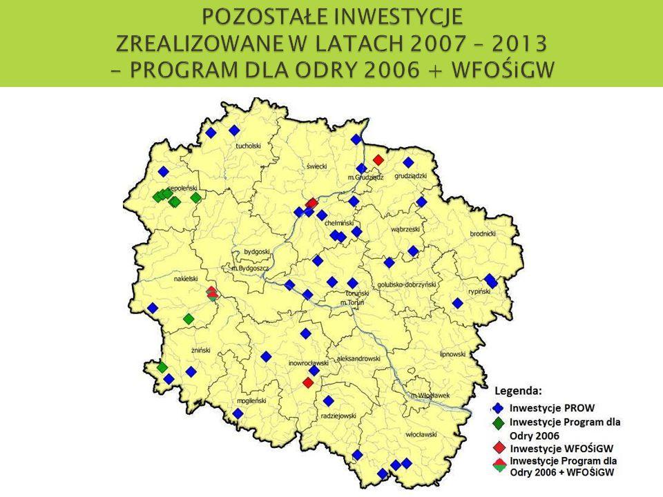 POZOSTAŁE INWESTYCJE ZREALIZOWANE W LATACH 2007 – 2013 - PROGRAM DLA ODRY 2006 + WFOŚiGW