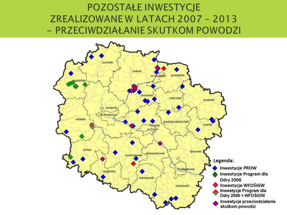 POZOSTAŁE INWESTYCJE ZREALIZOWANE W LATACH 2007 – 2013 - PRZECIWDZIAŁANIE SKUTKOM POWODZI
