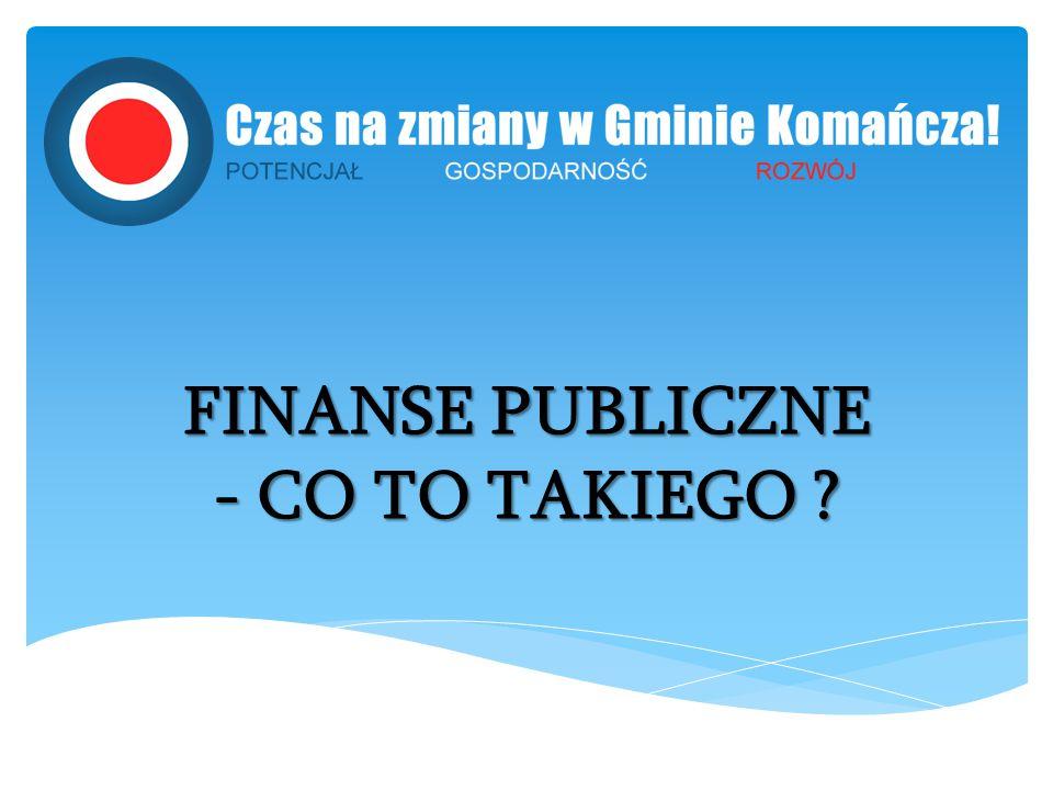 FINANSE PUBLICZNE - CO TO TAKIEGO