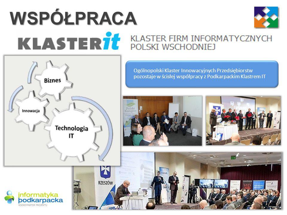 WSPÓŁPRACA Ogólnopolski Klaster Innowacyjnych Przedsiębiorstw pozostaje w ścisłej współpracy z Podkarpackim Klastrem IT.