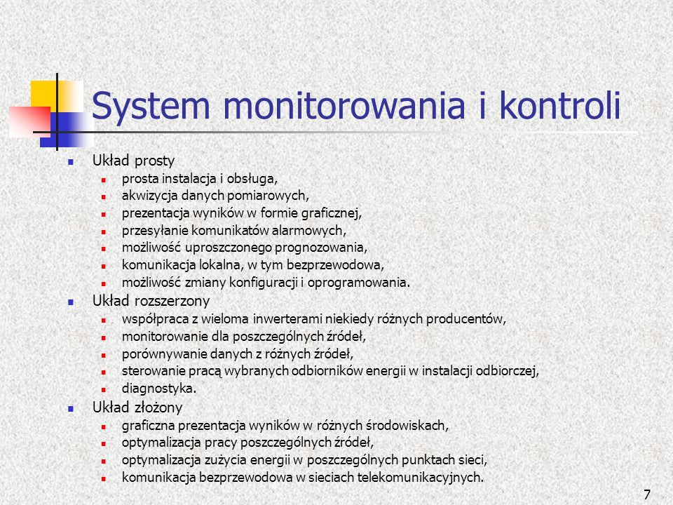 System monitorowania i kontroli