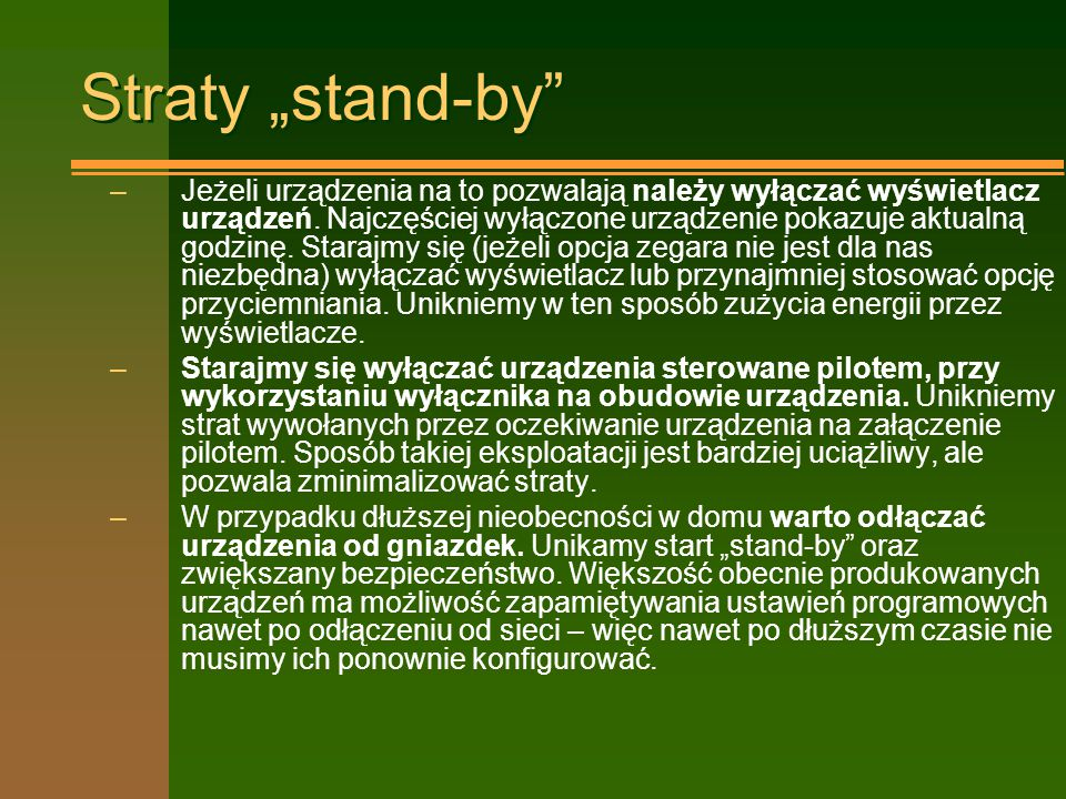 "Straty ""stand-by"