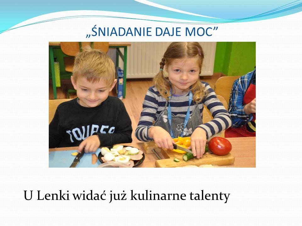 """""""ŚNIADANIE DAJE MOC U Lenki widać już kulinarne talenty"""