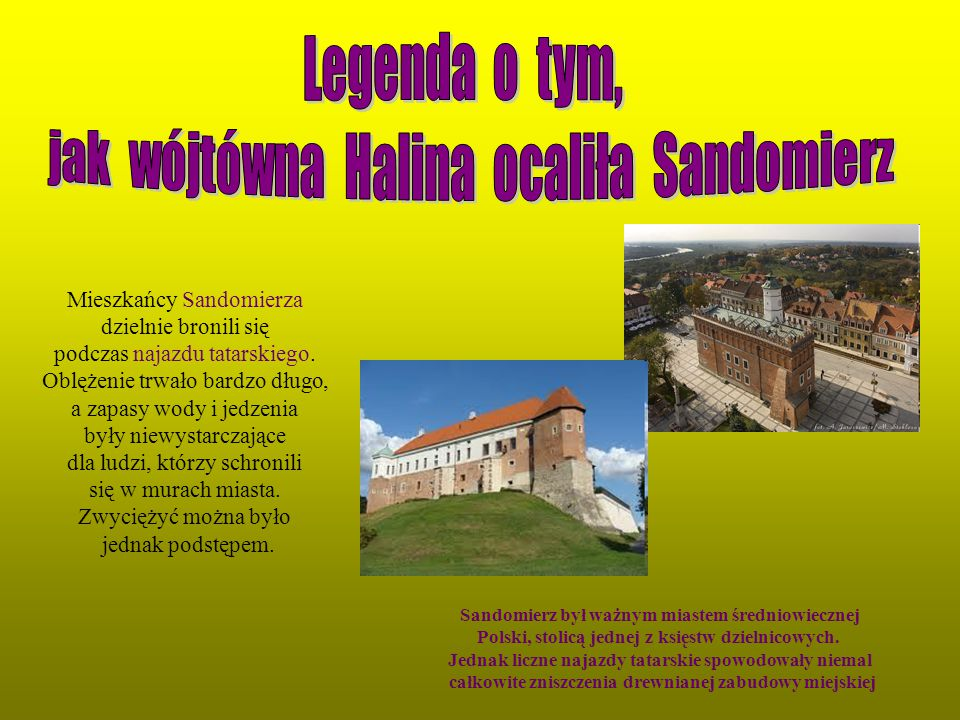 jak wójtówna Halina ocaliła Sandomierz