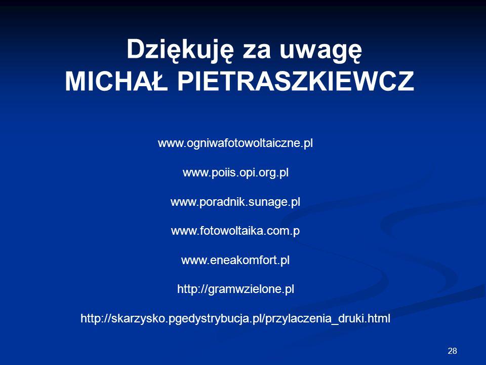 MICHAŁ PIETRASZKIEWCZ