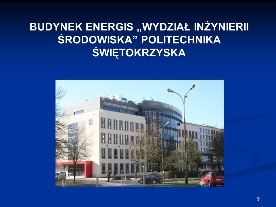 """BUDYNEK ENERGIS """"WYDZIAŁ INŻYNIERII ŚRODOWISKA POLITECHNIKA ŚWIĘTOKRZYSKA"""