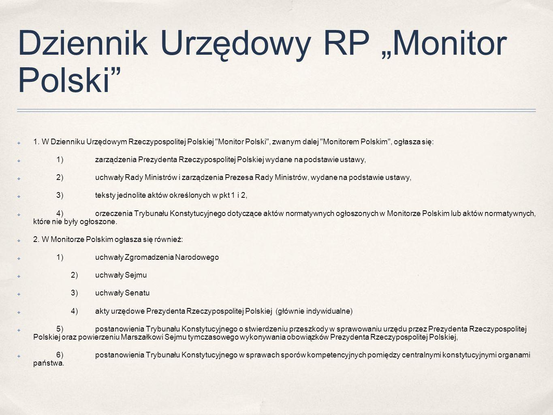 """Dziennik Urzędowy RP """"Monitor Polski"""