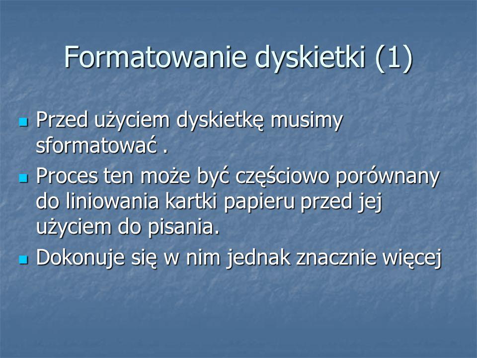 Formatowanie dyskietki (1)