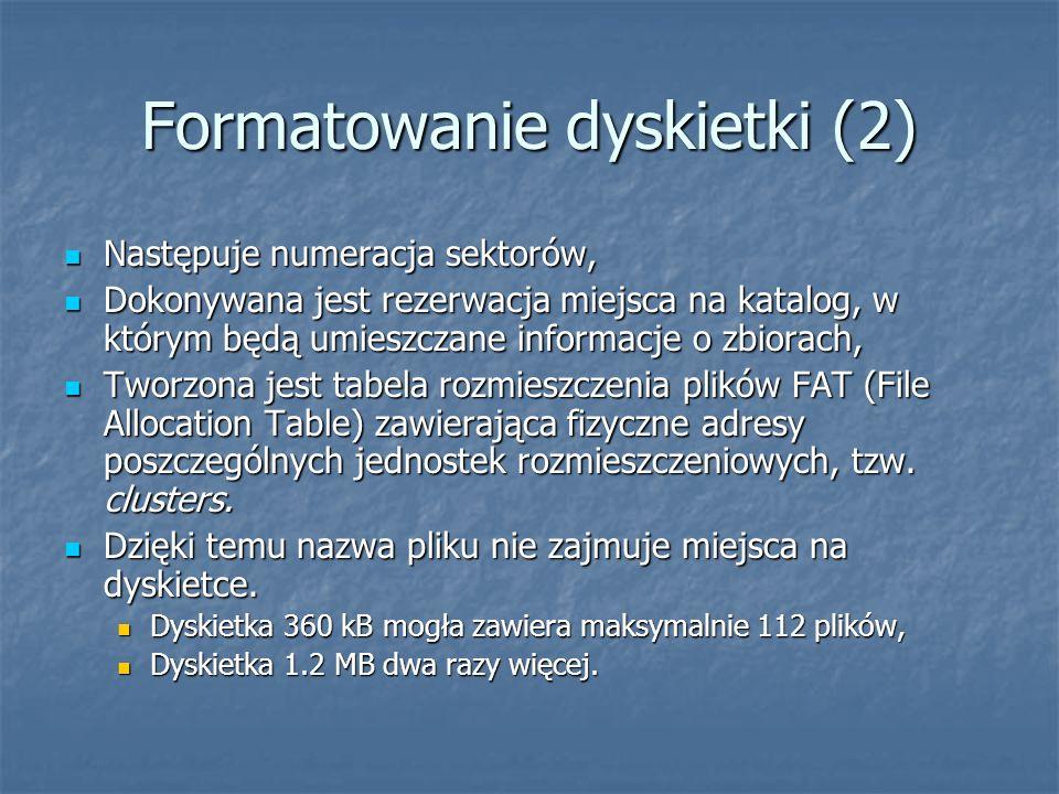 Formatowanie dyskietki (2)