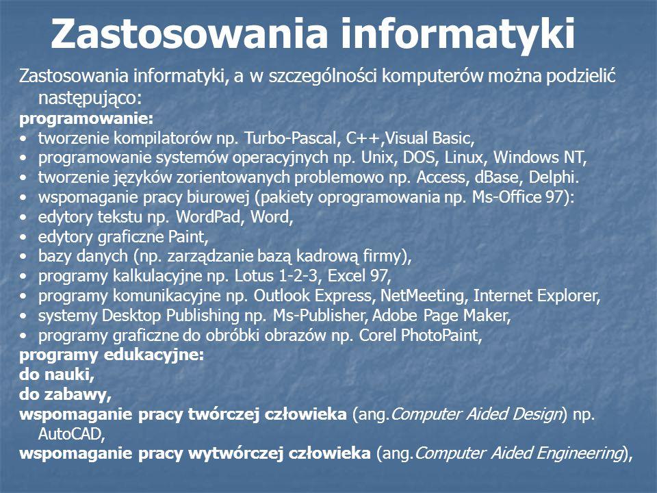 Zastosowania informatyki