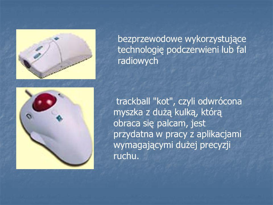 bezprzewodowe wykorzystujące technologię podczerwieni lub fal radiowych
