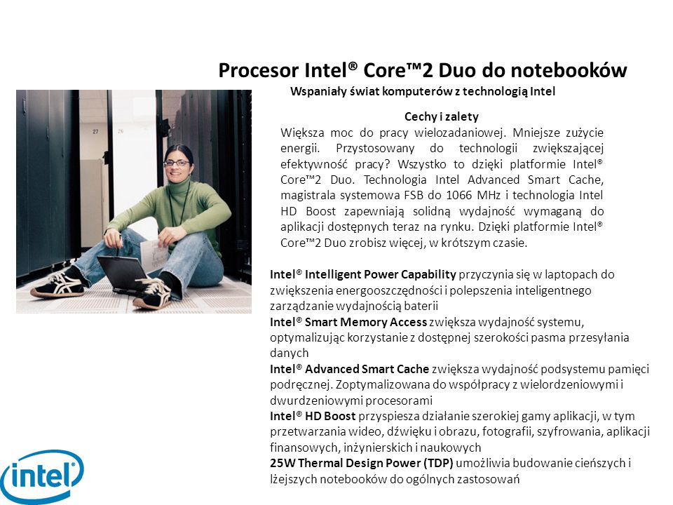 Procesor Intel® Core™2 Duo do notebooków