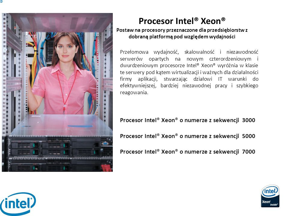 Procesor Intel® Xeon® Procesor Intel® Xeon® o numerze z sekwencji 3000
