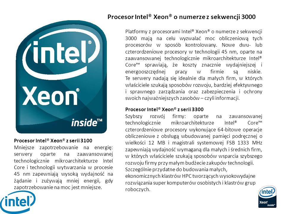 Procesor Intel® Xeon® o numerze z sekwencji 3000