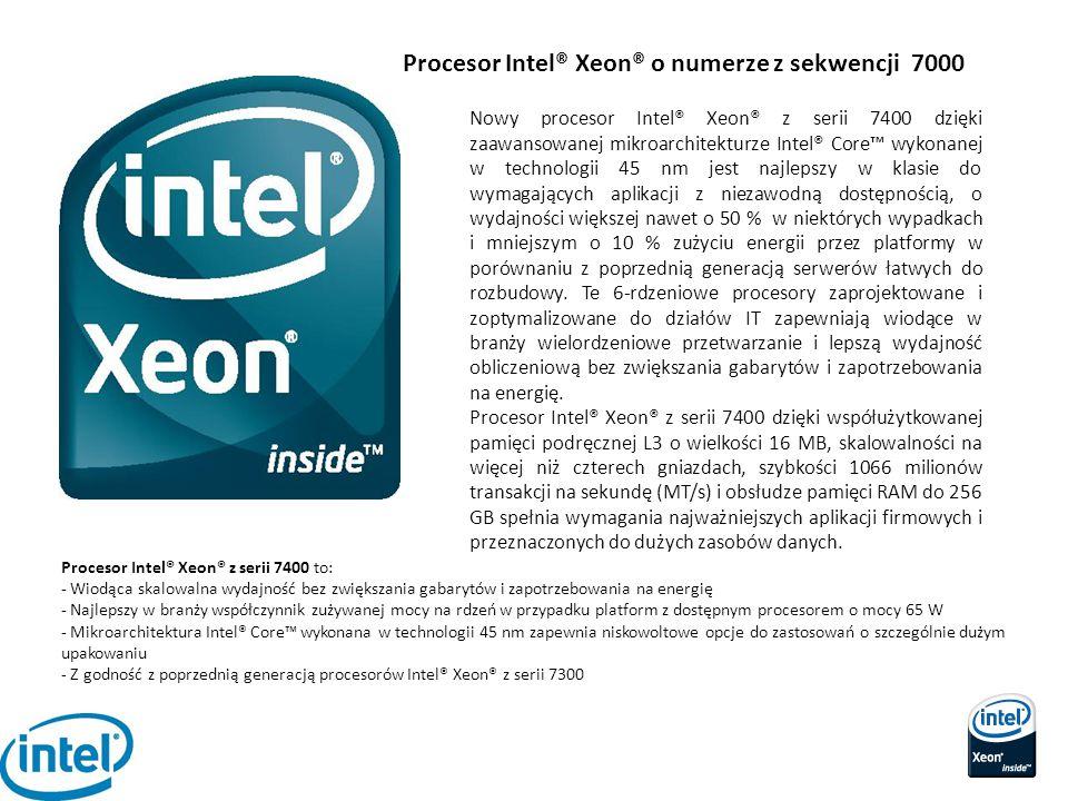 Procesor Intel® Xeon® o numerze z sekwencji 7000