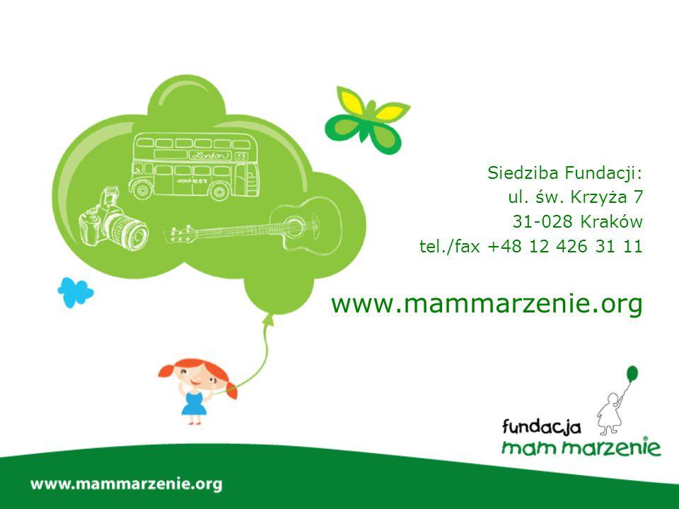 www.mammarzenie.org Siedziba Fundacji: ul. św. Krzyża 7 31-028 Kraków