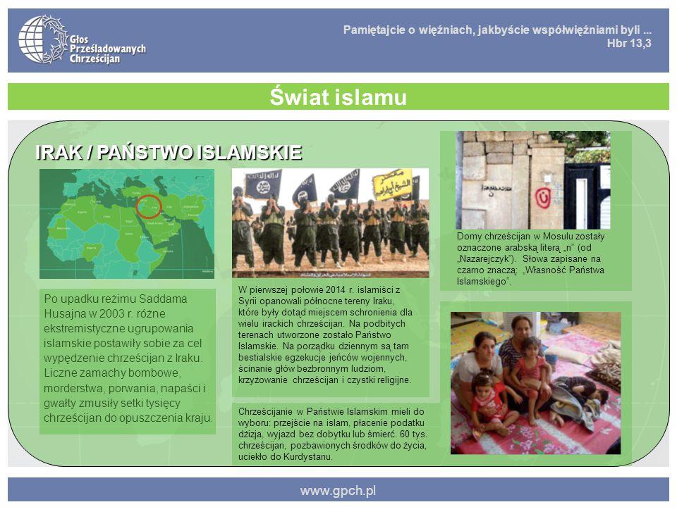 Świat islamu IRAK / PAŃSTWO ISLAMSKIE www.gpch.pl