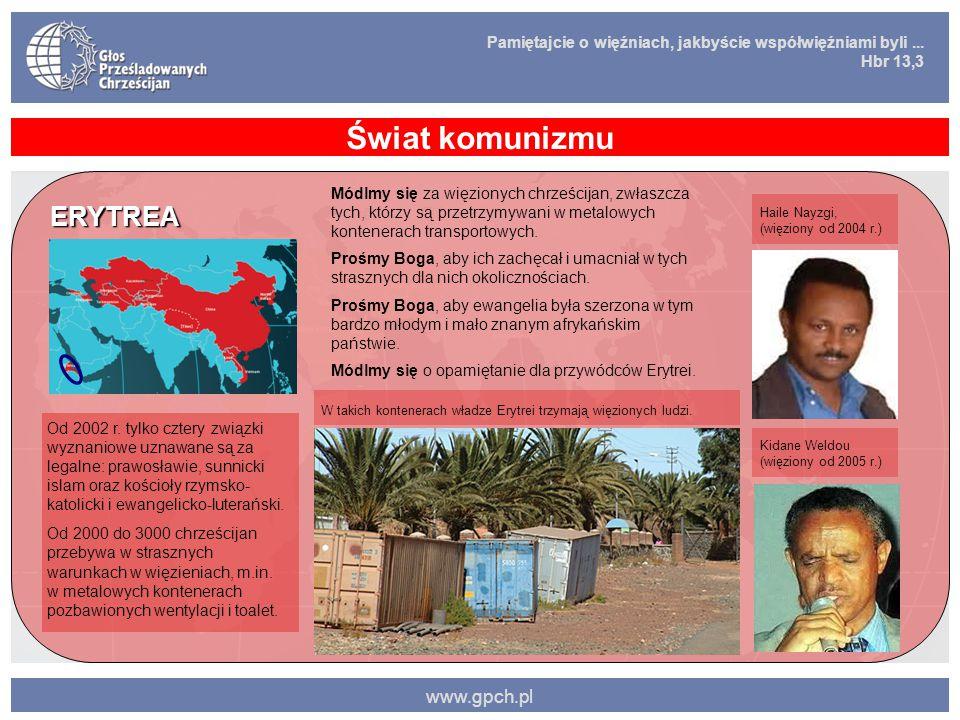 Świat komunizmu ERYTREA www.gpch.pl