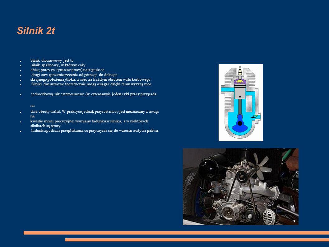 Silnik 2t Silnik dwusuwowy jest to silnik spalinowy, w którym cały