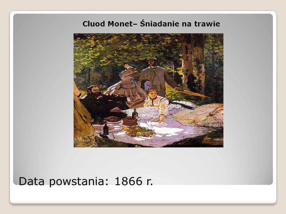 Cluod Monet– Śniadanie na trawie