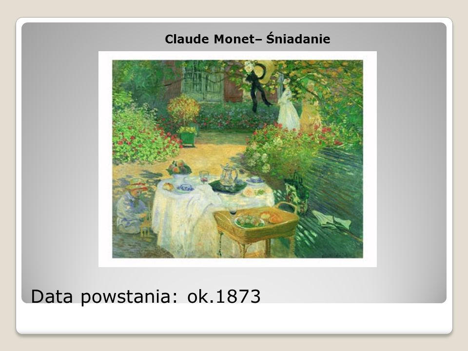 Claude Monet– Śniadanie