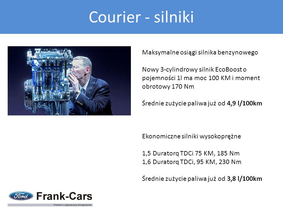 Courier - silniki Maksymalne osiągi silnika benzynowego