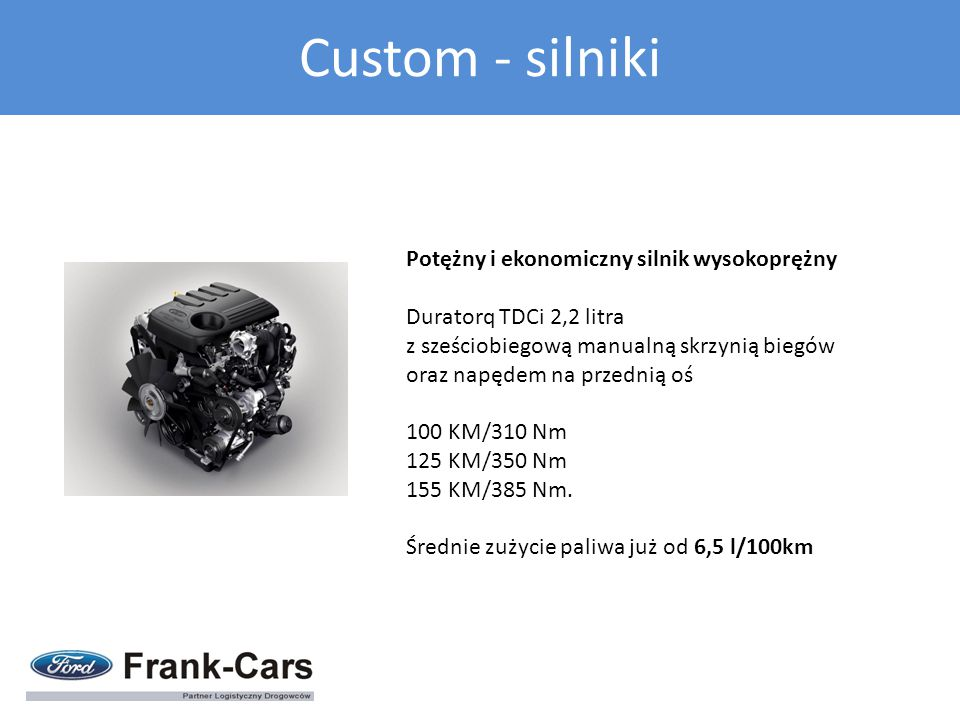 Custom - silniki Potężny i ekonomiczny silnik wysokoprężny