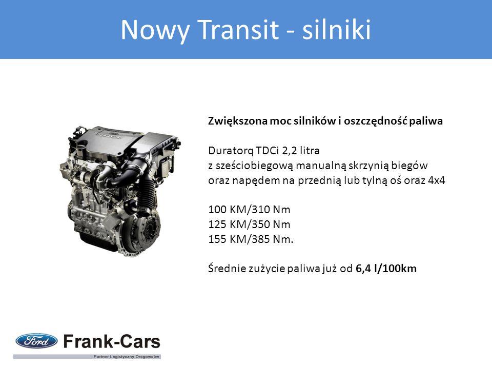 Nowy Transit - silniki Zwiększona moc silników i oszczędność paliwa