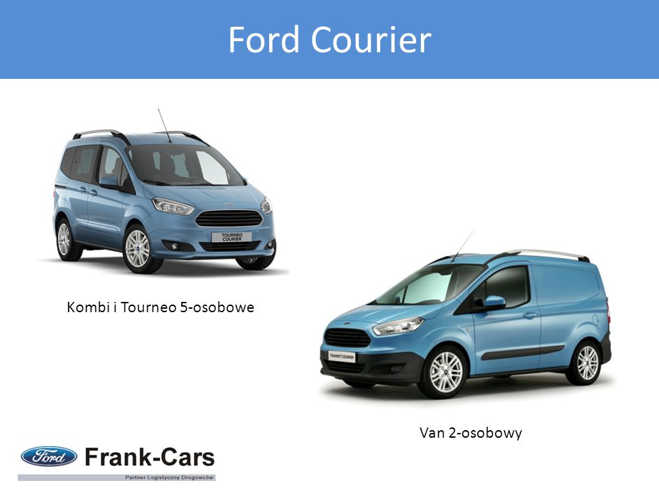 Ford Courier Kombi i Tourneo 5-osobowe Van 2-osobowy