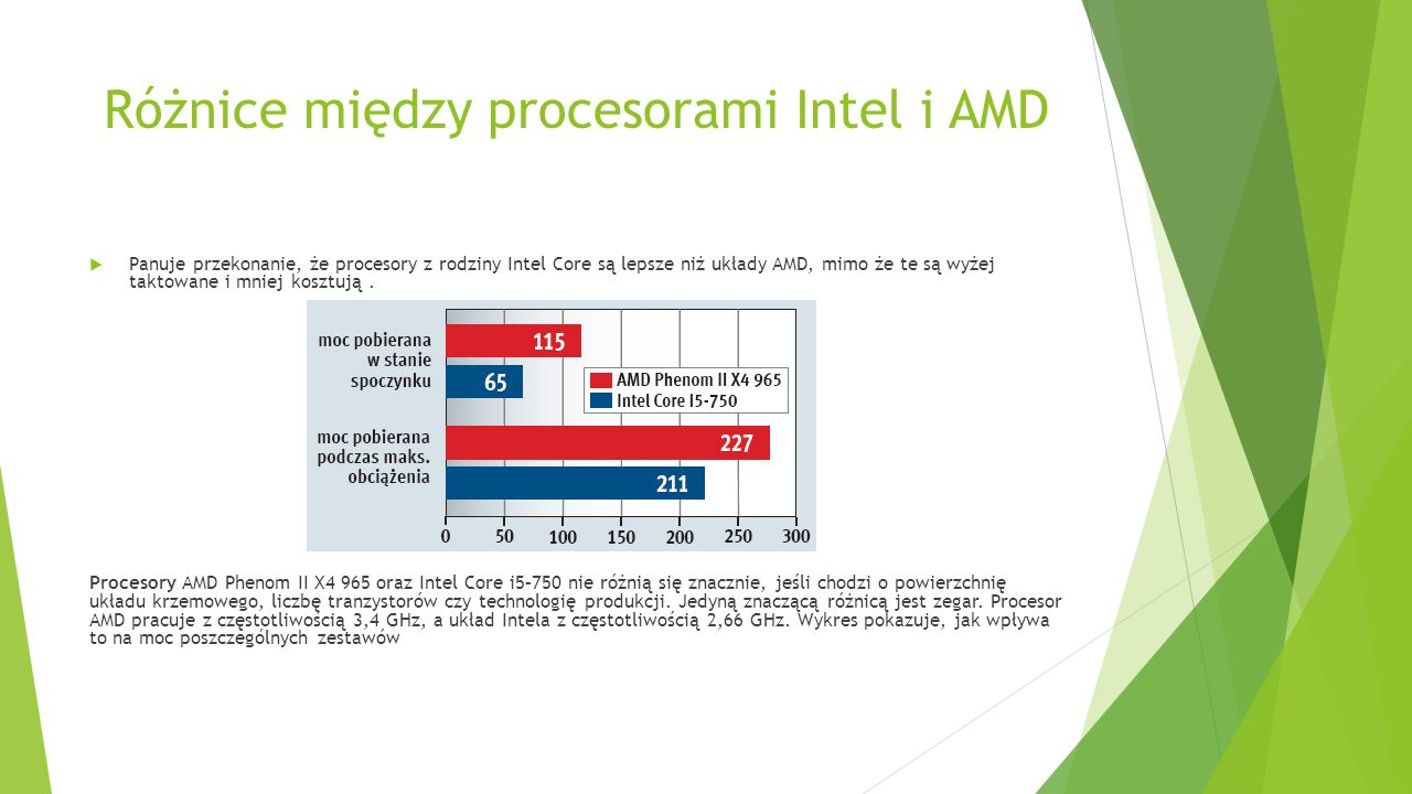 Różnice między procesorami Intel i AMD