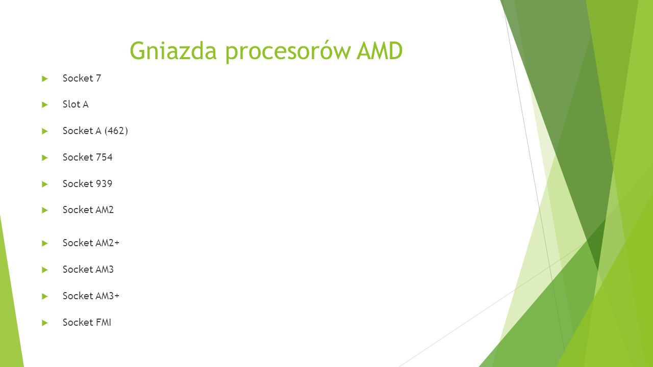 Gniazda procesorów AMD