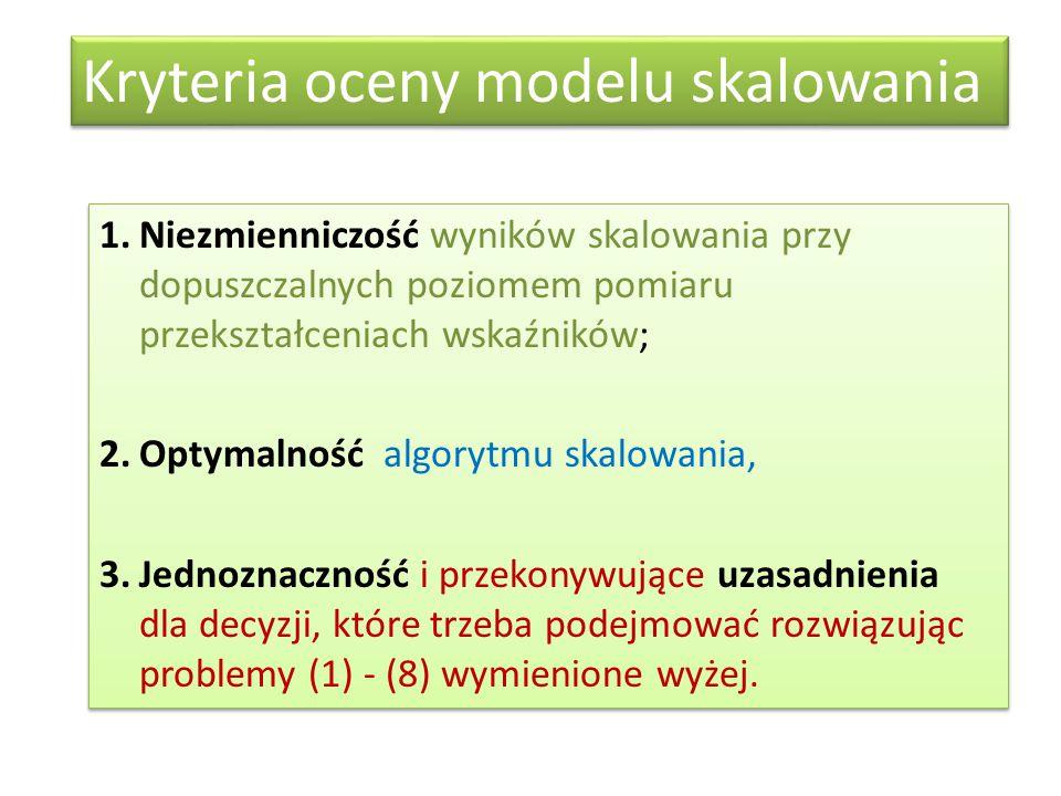 Kryteria oceny modelu skalowania