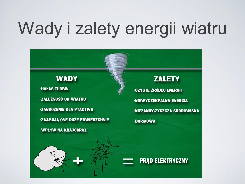 Wady i zalety energii wiatru