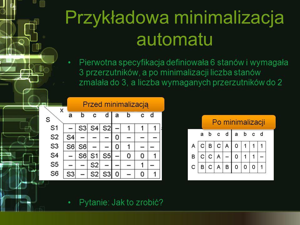 Przykładowa minimalizacja automatu