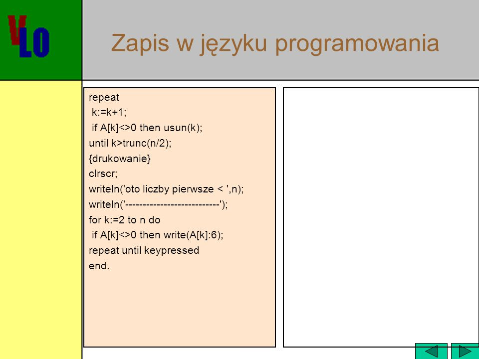Zapis w języku programowania