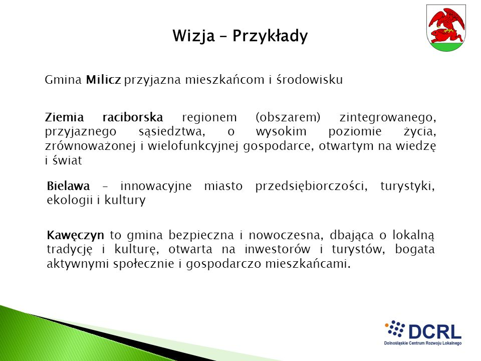 Wizja – Przykłady Gmina Milicz przyjazna mieszkańcom i środowisku