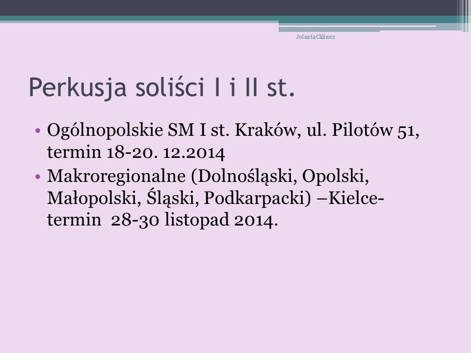 Perkusja soliści I i II st.