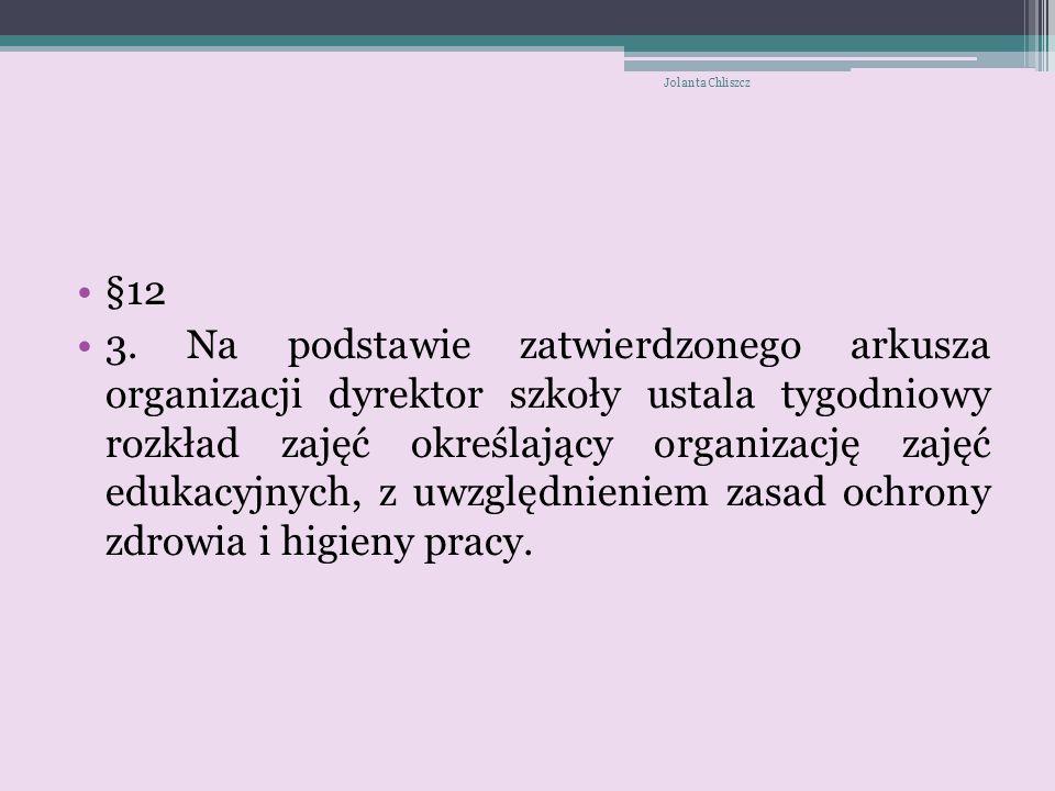 Jolanta Chliszcz §12.