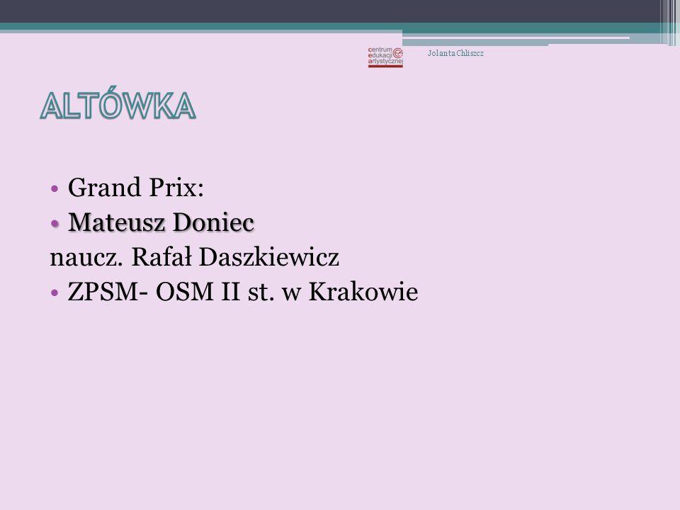ALTÓWKA Grand Prix: Mateusz Doniec naucz. Rafał Daszkiewicz