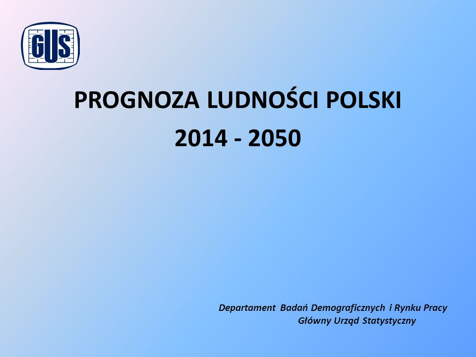 Prognoza ludności Polski 2014 - 2050