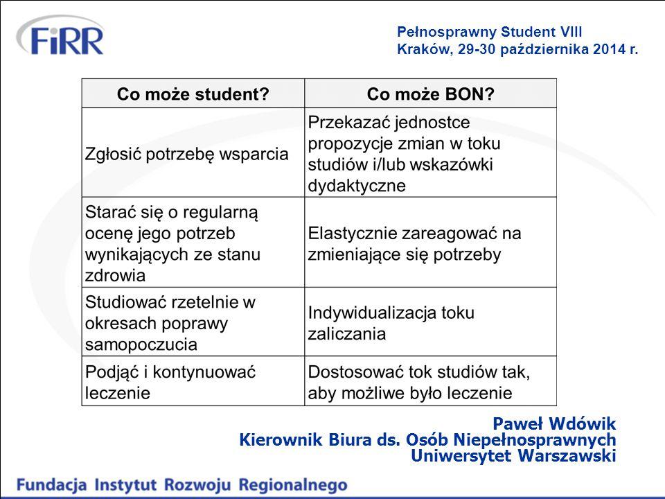 Pełnosprawny Student VIII