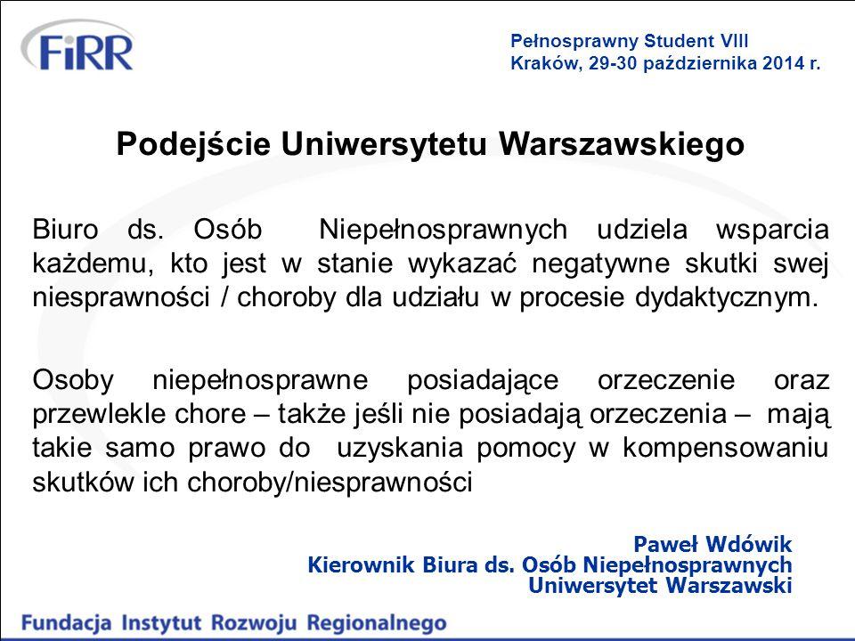 Podejście Uniwersytetu Warszawskiego
