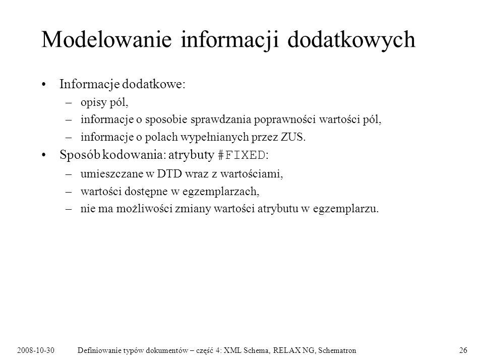 Modelowanie informacji dodatkowych