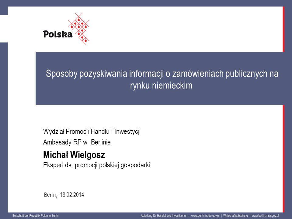 Sposoby pozyskiwania informacji o zamówieniach publicznych na rynku niemieckim