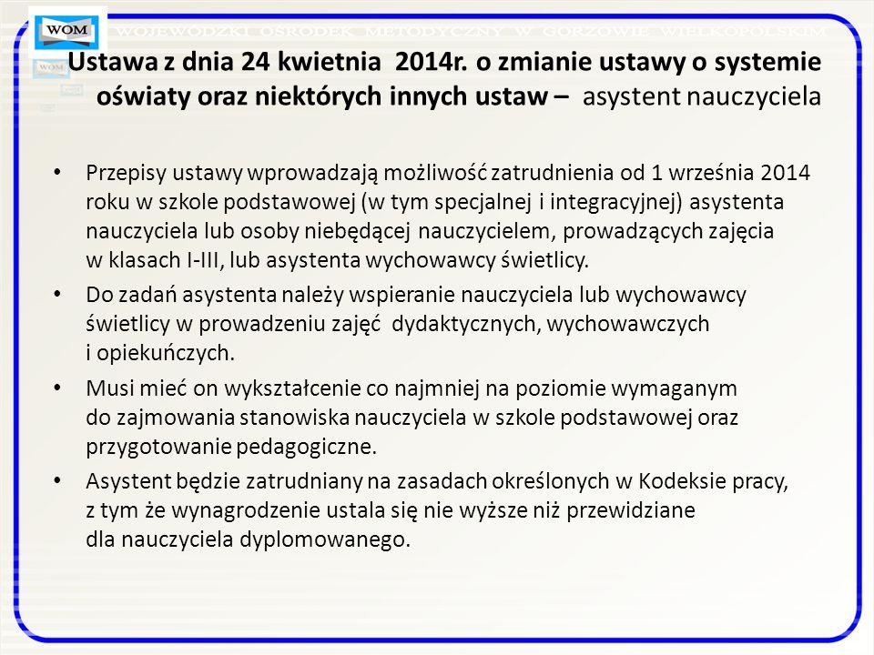 Ustawa z dnia 24 kwietnia 2014r