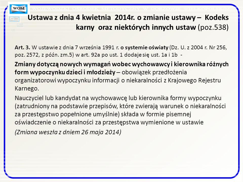 Ustawa z dnia 4 kwietnia 2014r